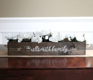 Family Name Centerpiece Wooden Signs