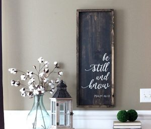 Be Still Wood Sign Making Class