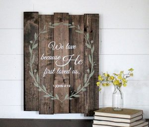 Religious Wood Signs