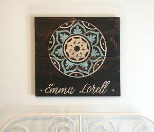 Mandala Flower Wooden Sign