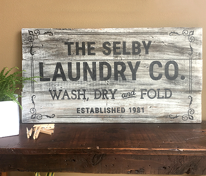 Laundry And Co Sign Adorable Laundry Co 18X32  Board And Brush 2017