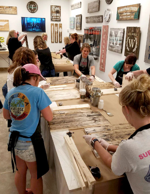 Lancaster Board and Brush | Wine & Painting Wood Sign Studio