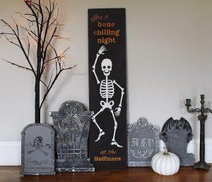 HALLOWEEN - Mr. Skeleton - 12x48
