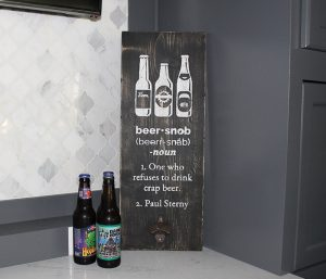 Bottle Opener Wooden Bar Sign