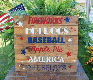 American Colors Wood Sign Making Class
