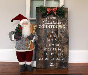December Calendar Wood Sign