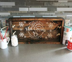 Hot Cocoa Wood Tray