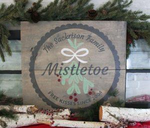 Mistletoe Wood Sign