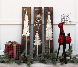 Tree Trio Wood Signs