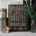 Walking in a Winter Wonderland Wood Signs