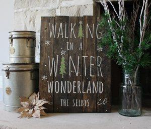 Walking in a Winter Wonderland Wood Signs