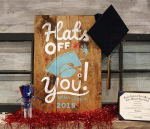 Hats Off to Graduation Wood Sign