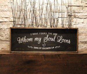 My Soul Loves Framed Wood Sign