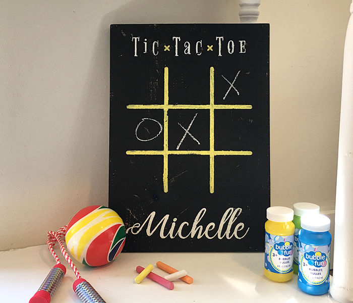 Tic Tac Toe Board And Brush