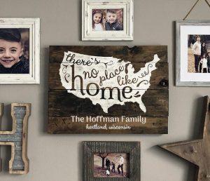 No Place Like Home Wood Sign