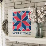 Barn Quilt Welcome - 24x24 Wood Sign