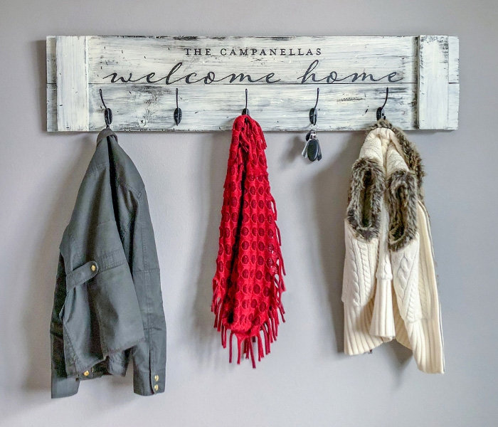 Welcome Home Coat Rack 12x48 Limited Project And